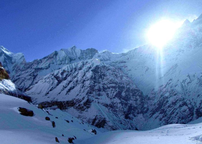 annapurna bas camp heli tour flight
