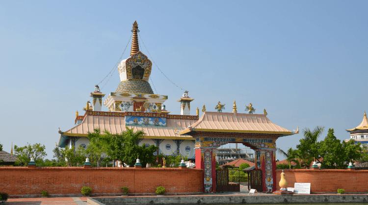 a monument in lumbini