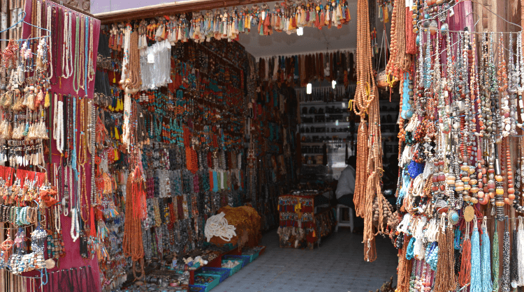 shopping in and around baudhanath stupa