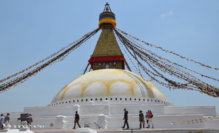 eyes on the baudhanath stupa